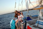 18_Franziska_and_Leo_relaxing_during_the_sail_towards_Grand_Baie