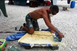 26_Giving_our_rudder_plates_some_profile_with_the_help_of_foam