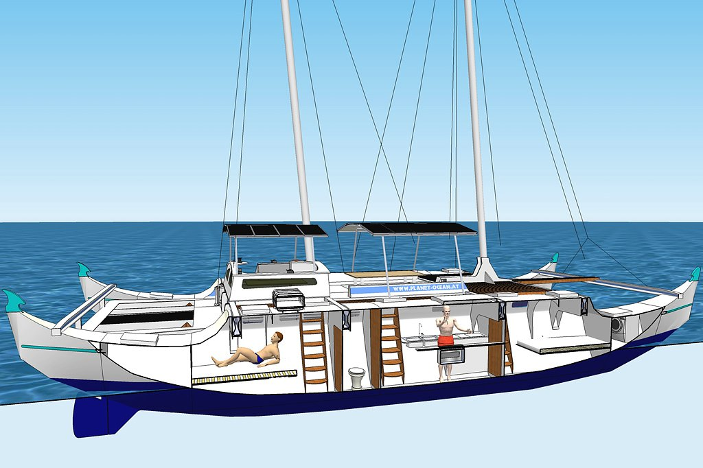 Catamaran on Simple Deck Designs